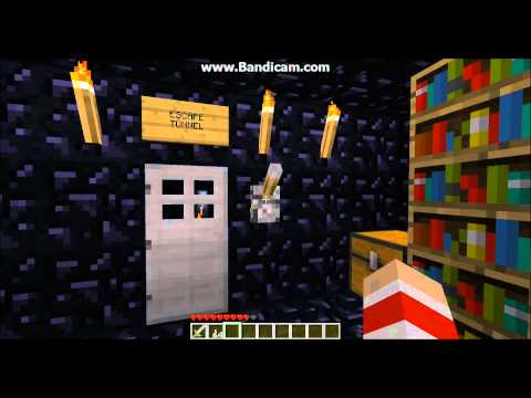 Minecraft panic room with escape tunnel and self destruct button