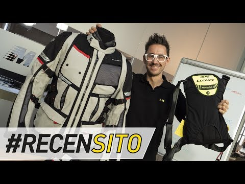 Clover GTS 4 WP Airbag. Test giacca moto quattro stagioni [ENGLISH SUB]