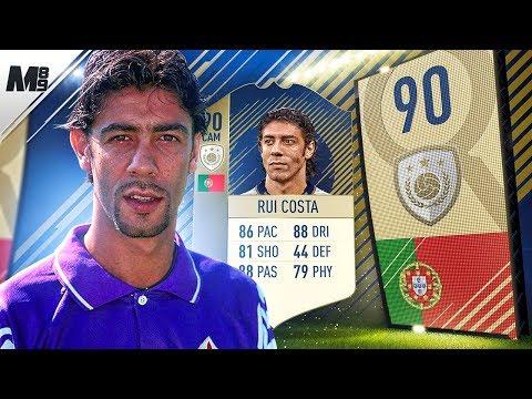 FIFA 18 ICON RUI COSTA REVIEW   90 PRIME ICON RUI COSTA PLAYER REVIEW   FIFA 18 ULTIMATE TEAM (видео)
