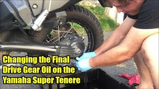 7. Changing the Final Drive Oil on the Yamaha Super Tenere