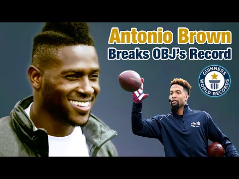 ANTONIO BROWN: Breaks Guinness World Record for One-Handed Catches