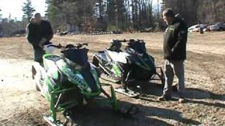 1. 2012 arctic cat f1100 turbo vs. 2012 arctic cat f800 snopro