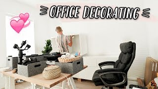 ORGANIZING & DECORATING OUR NEW OFFICE!! by Aspyn + Parker