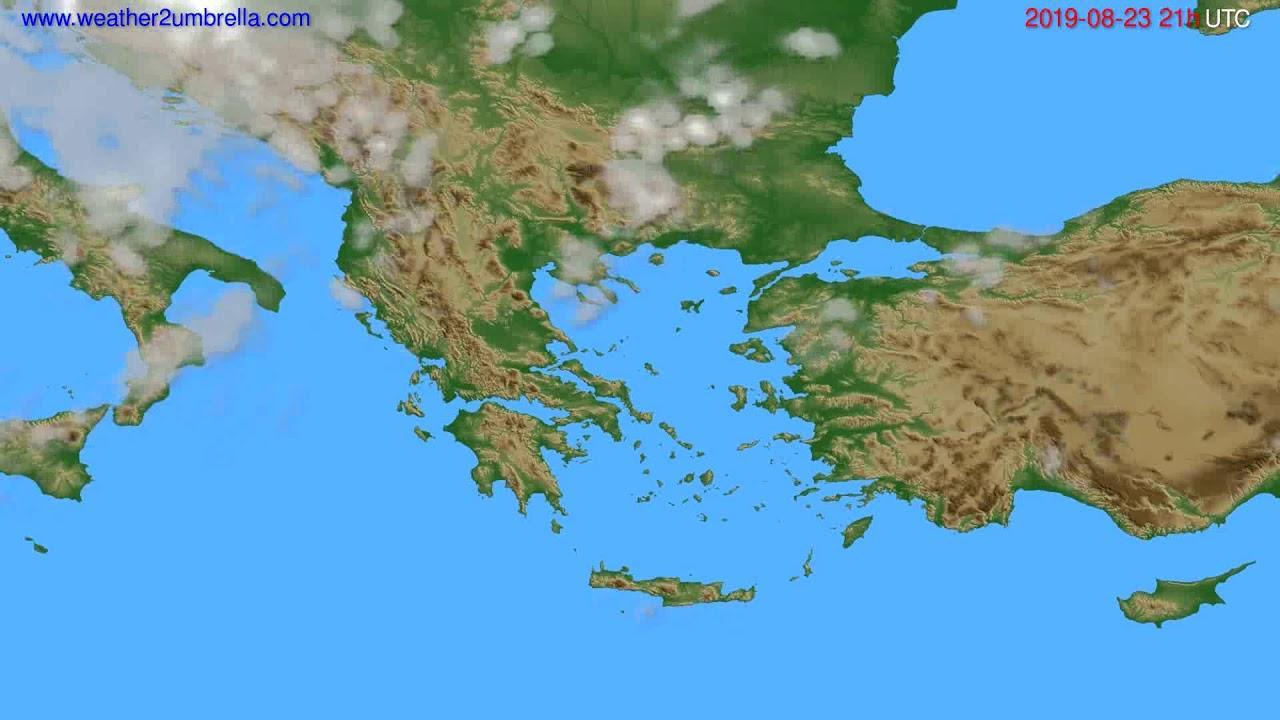 Cloud forecast Greece // modelrun: 00h UTC 2019-08-22