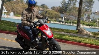 2. 2013 Kymco Agility 125 - $2000 Scooter Comparison - MotoUSA