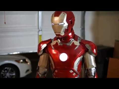 Iron man mark 43 costume electronic test