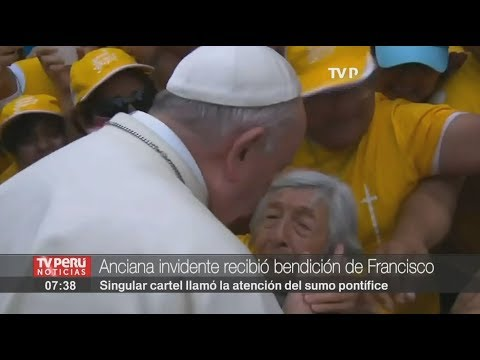 Perú: El noble gesto del papa Francisco (VIDEO)