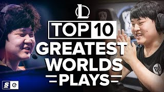 Video Top 10 Greatest Worlds Plays in League of Legends History MP3, 3GP, MP4, WEBM, AVI, FLV September 2019