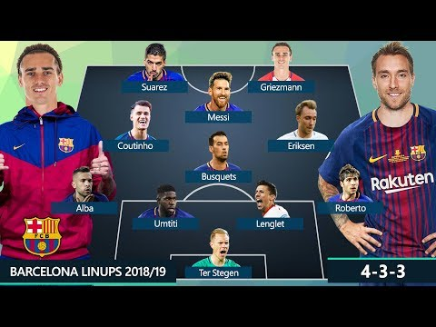 BARCELONA DREAM TEAM & POTENTIAL LINEUPS 2018/2019 | Ft. MESSI, GRIEZMANN, ERIKSEN, COUTINHO...