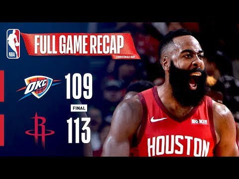 FULL GAME RECAP: THUNDER VS ROCKETS | HARDEN DAZZLES ON CHRISTMAS