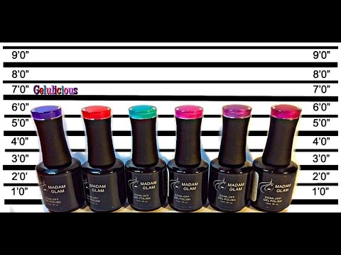 Madam Glam Gel Polishes LIVE Swatches & Review