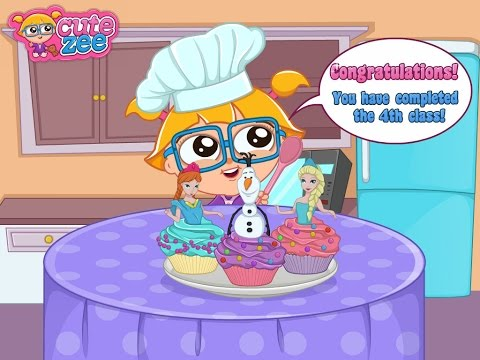 Frozen Video Game - Cutezee Cooking Academy: Elsa Cupcakes On Chipgames.net