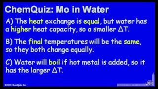 MO In Water  (Quiz)