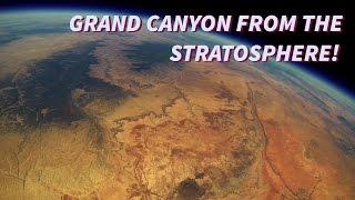 Le grand Canyon et le désert de l'Arizona vu depuis la stratosphère