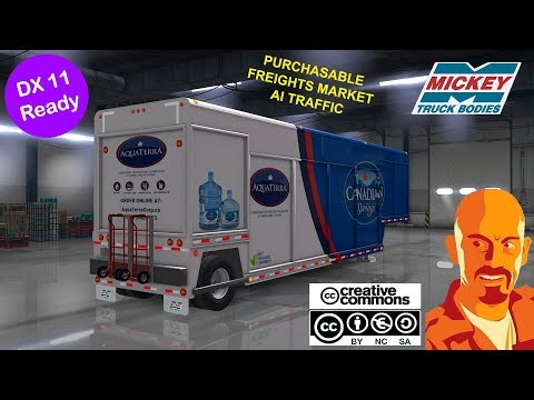 MICKEY'S BEVERAGES TRAILER REWORKED ATS 1.34.x