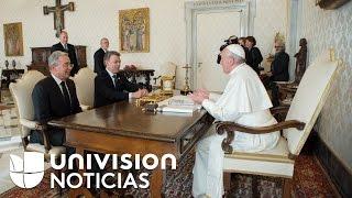 Papa Francisco se reunió con Juan Manuel Santos y Álvaro Uribe para hablar del proceso de paz en Col