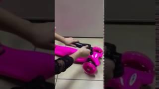Fascol Flashin Wheel Scooter Folding Bar Show