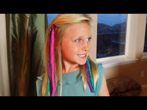 How to Make RAINBOW LOOM HAIR EXTENSIONS *ORIGINAL*