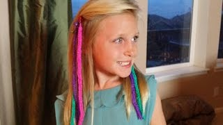 How to Make RAINBOW LOOM HAIR EXTENSIONS *Loomtastic Links* ORIGINAL* - YouTube