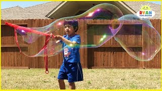 DIY Homemade Giant Bubbles for Kids Kit with Ryan ToysReview!!!