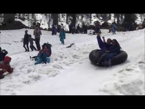 First Snow solang valley - 5 Jan 2018