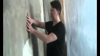 Принцип штукатурения стен