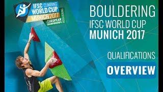 IFSC Climbing World Cup Munich 2017 - Qualifications Overview by International Federation of Sport Climbing
