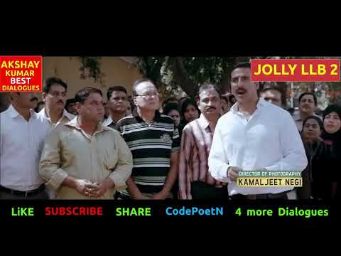 Video AKSHAY KUMAR MOVIES - JOLLY LLB 2 FULL MOVIE DIALOGUES - BEST SCENES - BOLLYWOOD DI download in MP3, 3GP, MP4, WEBM, AVI, FLV January 2017