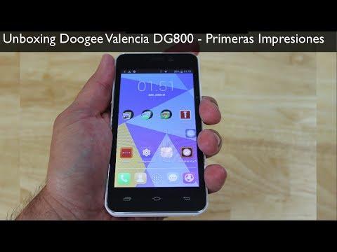 Unboxing Doogee Valencia DG800  -  Primeras Impresiones