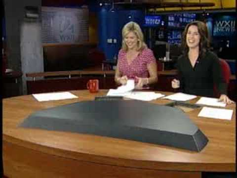 Meteorologist Falls Off Exercise Ball