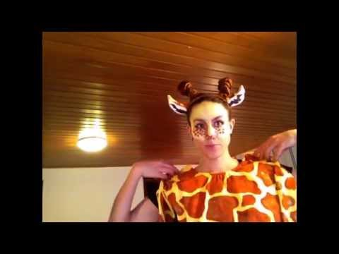 Giraffe Costume - Make up