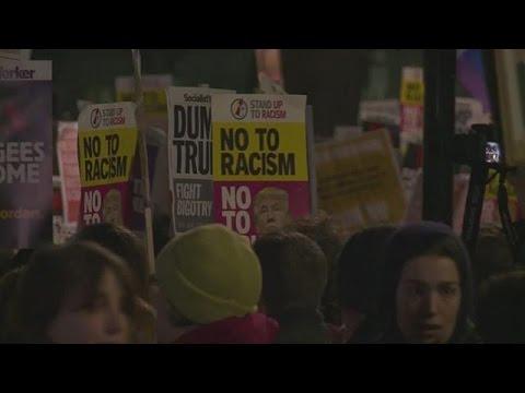 Χιλιάδες Βρετανοί στους δρόμους κατά Τραμπ