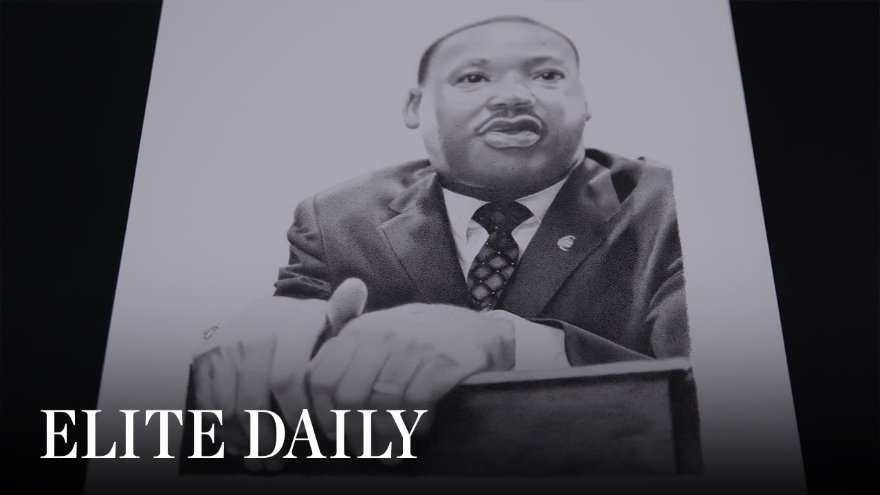 Artist Draws MLK Tribute Piece One Dot At A Time