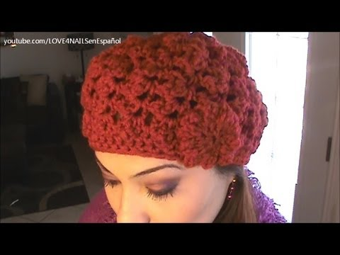 GORRO - Link for the instructional video on crocheting this beanie hat in English:http://www.youtube.com/watch?v=rk8KjRracLo&feature=share&list=PL669561828CFC1C29 Li...
