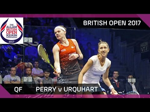 Squash: Perry v Urquhart - British Open 2017 QF Highlights