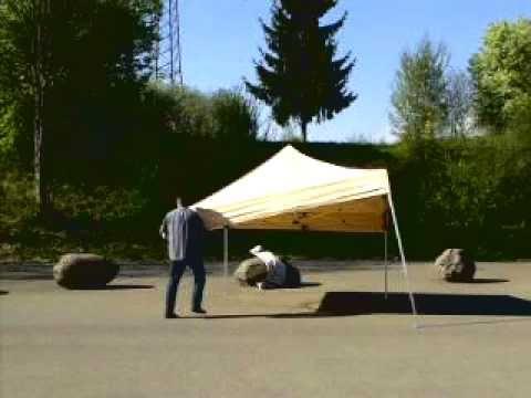 Profi-Faltzelt.de Video -Aufbau- Faltpavillon 3x3 von einer Person