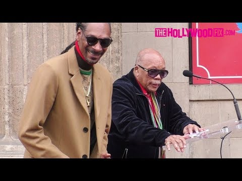 Quincy Jones Speaks At Snoop Dogg's Hollywood Walk Of Fame Ceremony 11.19.18