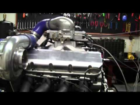 Edelbrock 548 ci engine on the dyno