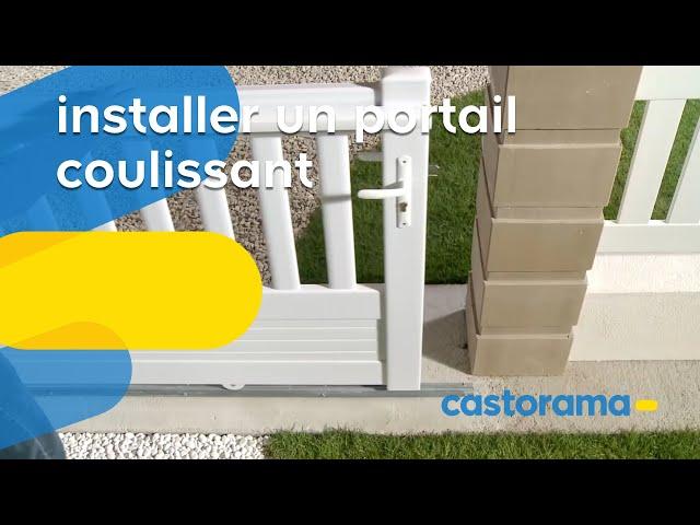 Comment poser un portail coulissant comment poser un parquet flottant stratif - Portail castorama coulissant ...