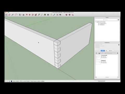 Box Joint using the Subtract tool in SketchUp