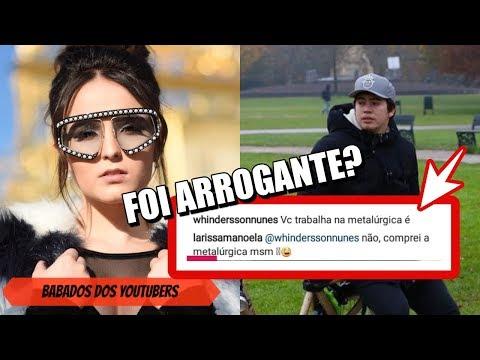 ARROGANTE?: Larissa Manoela RESPONDE Whindersson Nunes e seguidores DETONAM REPOSTA!