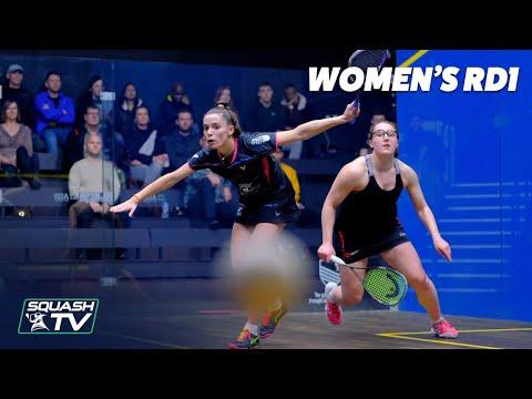 AJ Bell National Squash Championships 2020 - Women's Rd1 Highlights