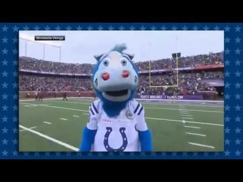 Blue takes the Mascot vs Kids game too serious