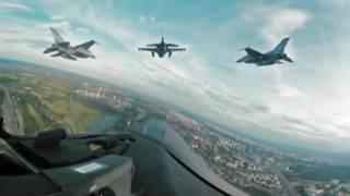 Tak wygląda Warszawa z kabiny F-16. Zobacz nagranie w 360 stopniach i poczuj się jak pilot myśliwca