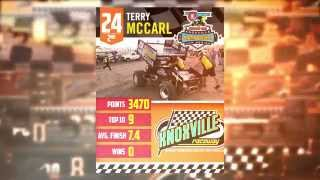 Knoxville Raceway 410 2nd place points finisher Terry McCarl