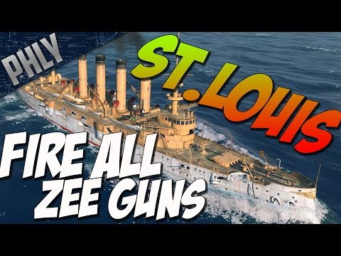 World Of Warships Gameplay- St Louis- So Much Firepower