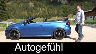2015 VW Golf R Cabriolet Review Test Drive Volkswagen Golf R Convertible - Autogefühl