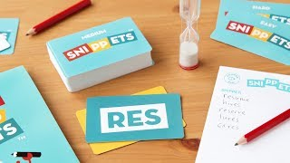 https://www.thegrommet.com/snippetsSnippets is Made in the USA and breaks all the rules of traditional family word games. You get a snippet, which is a short series of letters (e.g., upp), and 60 seconds to come up with as many words as you can think of that contain it (think: supper, Tupperware, etc). They can be real dictionary words, proper names, acronyms, slang—even words that aren't in English. Think fast. Literally any word is fair game. Once time is up, you get a point for any words that no one else got. There are three different decks, with snippets that are easier, tougher, and the most challenging. We suggest starting with the easiest deck to get the hang of it. The winner isn't the person with the biggest vocabulary. It's more likely to be the one with the greatest creativity. To win, you have to free associate quickly, like you would when you brainstorm. Maker Shaun Salzberg's journey was unconventional. He first invented the game as a phone app, then he turned it into old-school, game-night entertainment. We're happy he did. This fast-paced, brain-flexing activity is fun (and funny) for the whole family.