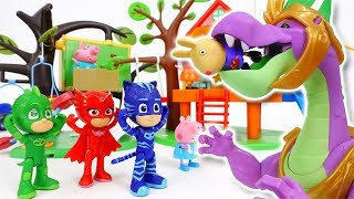 Video Pink Dragon in The Peppa Pig Playground~! Go PJ Masks MP3, 3GP, MP4, WEBM, AVI, FLV Juli 2018