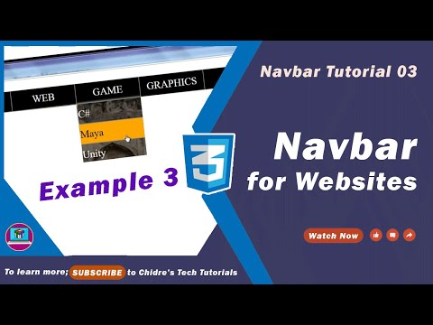 3. Creating Website Navigation Bars Using HTML & CSS